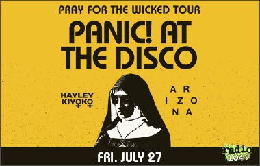 More Info for Radio 104.5 Presents Panic! At The Disco