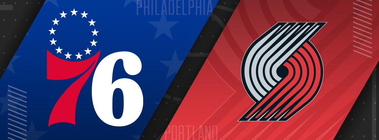 76ers vs Portland Trailblazers