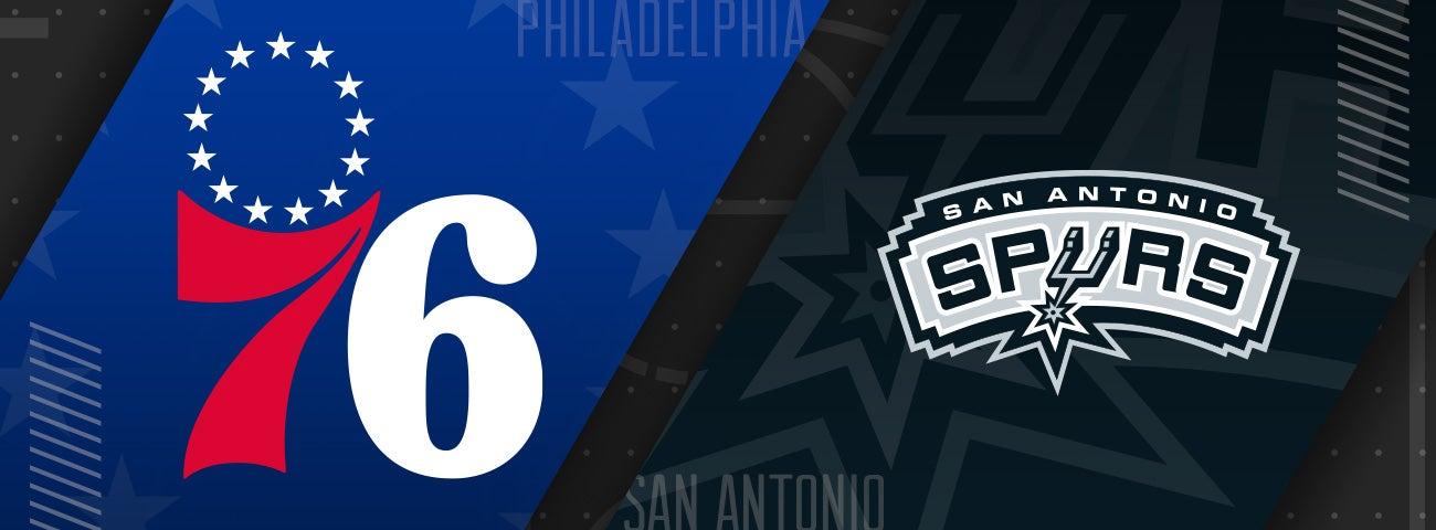 76ers vs San Antonio Spurs