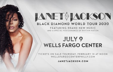 International Icon Janet Jackson Announces Black Diamond World Tour 2020 With Performance At Wells Fargo Center On Thursday, July 9