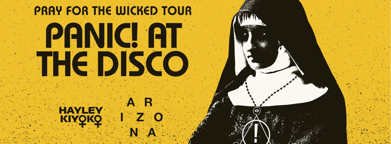 d93d6f70 PANIC! AT THE DISCO Pray For The Wicked Arena Tour Friday, July 27 At Wells  Fargo Center