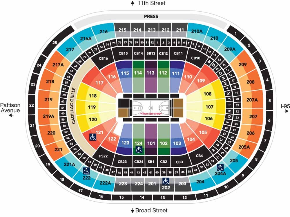 Seating Charts | Wells Fargo Center