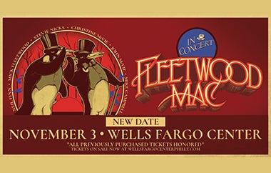 Fleetwood Mac Reschedules Performance at Wells Fargo Center to November 3